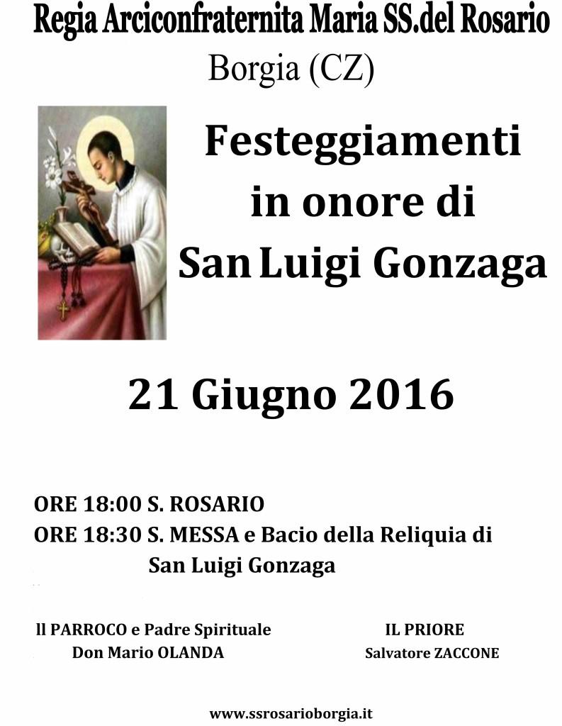 San Luigi Gonzaga 21 Giugno 2016